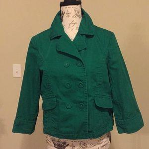 Old Navy sz L green swing Jacket